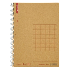 Notebook - Maruman Basic Kraft Spiral Grid B5