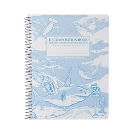 Notebook - Decomposition Books Coilbound Flying Sharks