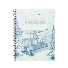 Notebook - Decomposition Books Coilbound Snowy Chalet