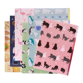 Filing - Sasaki 3 Pocket File - Assorted Designs