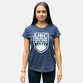 T-Shirt  - Women's Essential Crewneck Navy Heather