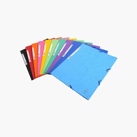 Filing - Folder - Exacompta Elastic A4 Assorted Colours
