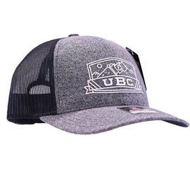 Hat - Trucker - UBC Low Pro Navy Heather Panel Navy Mesh