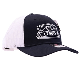 Hat - Trucker - UBC Low Pro Navy Panel White Mesh