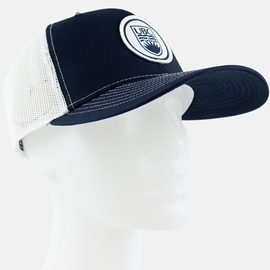Hat - Mesh Trucker Sublimated Patch Navy Panel White Mesh