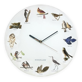 Kikkerland - Bird Call Wall Clock