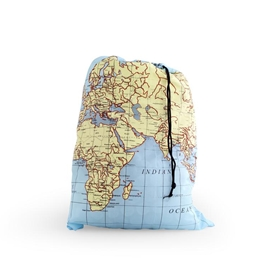 Kikkerland - Travel Laundry Bag: Maps