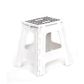 Kikkerland - Step Stool Folding Tall: White