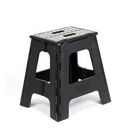 Kikkerland - Step Stool Folding Tall: Black