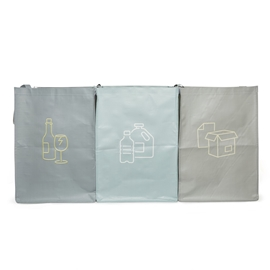 Kikkerland - Recycling Stations (set of 3)