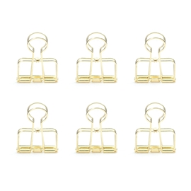 Kikkerland - Wire Clips: Gold (set of 6)