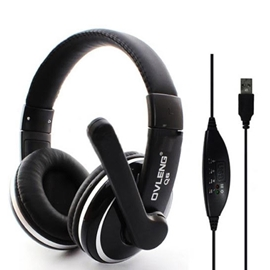 Headset - Ovleng USB With Microphone Black