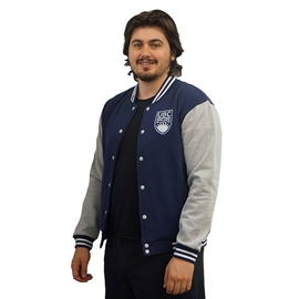 "Jacket - Varsity Navy <font color = ""red"">On Sale</font>"