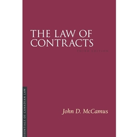 LAW OF CONTRACTS 3RD EDN - IRWIN ESSENTIALS OF CANADIAN LAW