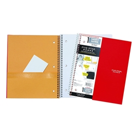 Notebook - Hilroy Five Star Graph Red