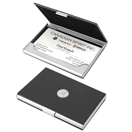 Sauder - Business Card Case: Leatherette