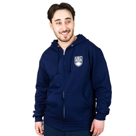 Sweatshirt - Hoodie - Full Zip Crested Navy