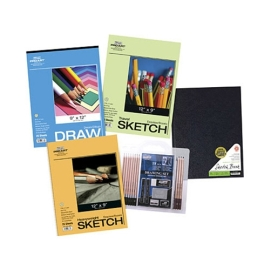 Art Supplies - Pro Art Hardbound Book Drawing and Sketch Paper 22 Piece Value Pack