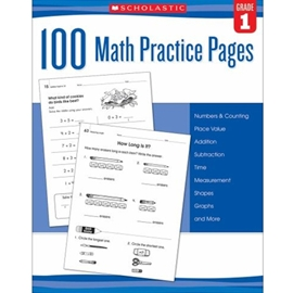 100 MATH PRACTICE PAGES GRADE 1
