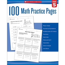 100 MATH PRACTICE PAGES GRADE 5
