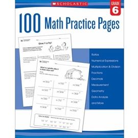 100 MATH PRACTICE PAGES GRADE 6