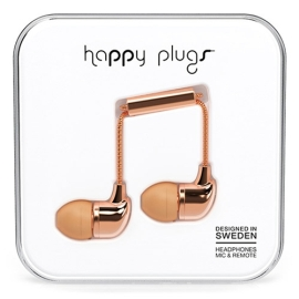 Earbuds - Happy Plugs in-ear - rose gold