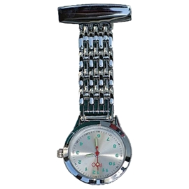 Chrome Lapel Watch