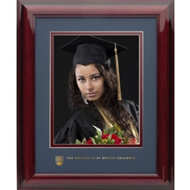 Photo frame - UBC wood graduation photo frame 8X10 w/ 5X7 photo opening