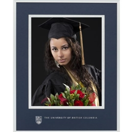Photo frame - UBC metal graduation photo frame 11x14 w/ 8X10 photo opening UBC gold foil coat of arms