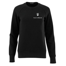 FOM Crewneck - Women's Elevate Fleece Crew Sweatshirt Black