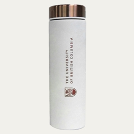 TUMBLER - 17oz UBC Le Baton Travel Bottle White and Copper