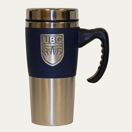 TUMBLER - 16oz UBC Pewter Crest Travel Mug