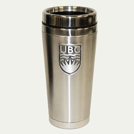 TUMBLER - 16oz UBC Pewter Crest Travel Mug Stainless Steel