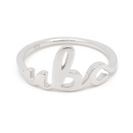 RING - Sterling Silver UBC Script