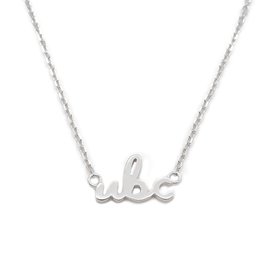 NECKLACE - Sterling Silver UBC Script