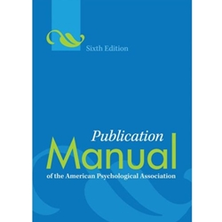 APA PUBLICATION MANUAL (SPIRAL BOUND) - AMERICAN PYSCHOLOGICAL ASSOCIATION 6TH EDIT