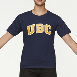 T-Shirt - Youth UBC Arch Screen Navy Blue