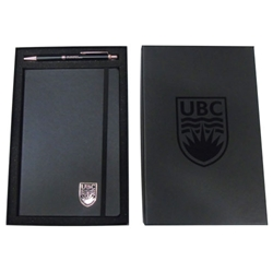 Journal and Pen Box Set - UBC Black Rose Gold
