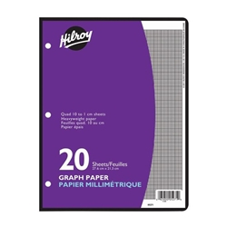 Filler Paper - Hilroy Metric One-Sided Quad Ruled Looseleaf Paper