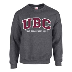 Crewneck - Customizable Faculty UBC Twill Crew - Charcoal