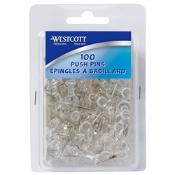 Push Pins - Acme Clear 100/Box