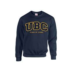 "Crewneck - Customizable ""Class Of"" UBC Twill Crew - Navy"