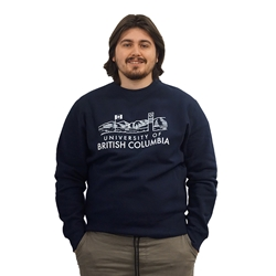 Sweatshirt - Crewneck - Clock Tower Flag Premium Heavyweight Navy