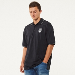Polo Shirt - UBC Crested Cotton Jersey Navy Blue