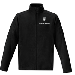 "FOM Jacket Fleece - Men's <font color = ""red""> Personalized </font> Coal Harbour Polar Fleece Jacket Black"