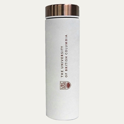 Tumbler - UBC Le Baton Travel Bottle White and Copper 17oz